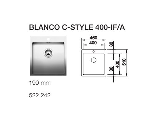 BLANCO C STYLE 400 IF A