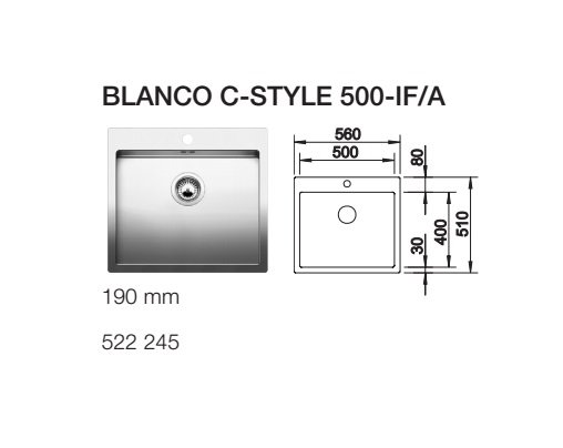 BLANCO C STYLE 500 IF A
