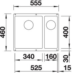 BLANCO SUBLINE 340 160 U