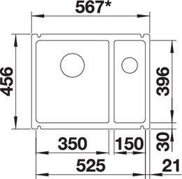 BLANCO SUBLINE 350 150 U KERAMIKA