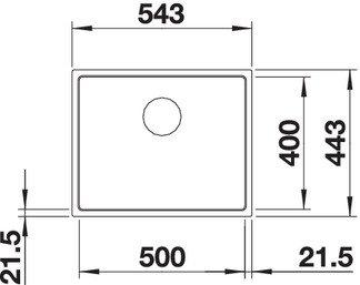 BLANCO SUBLINE 500 IF STEELFRAME