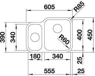 BLANCO S-STYLE 340180 U
